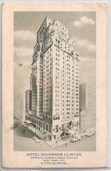 USA: New York. Hotel Governor Clinton NY. 1950s Postcard