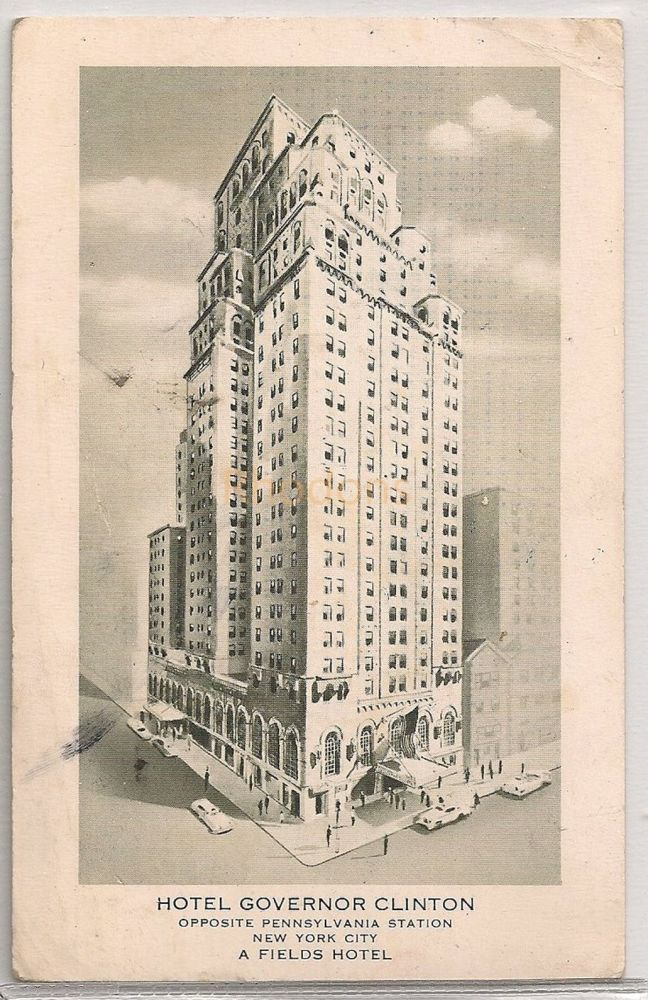 USA: New York. Hotel Governor Clinton NY. 1950s Postcard