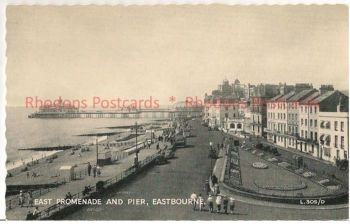 England: Sussex. East Promenade And Pier, Eastbourne. Valentines Circa 1930s Postcard