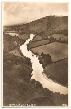 England: Gloucestershire. River Wye From Yat Rock. 1930s Real Photo Postcard