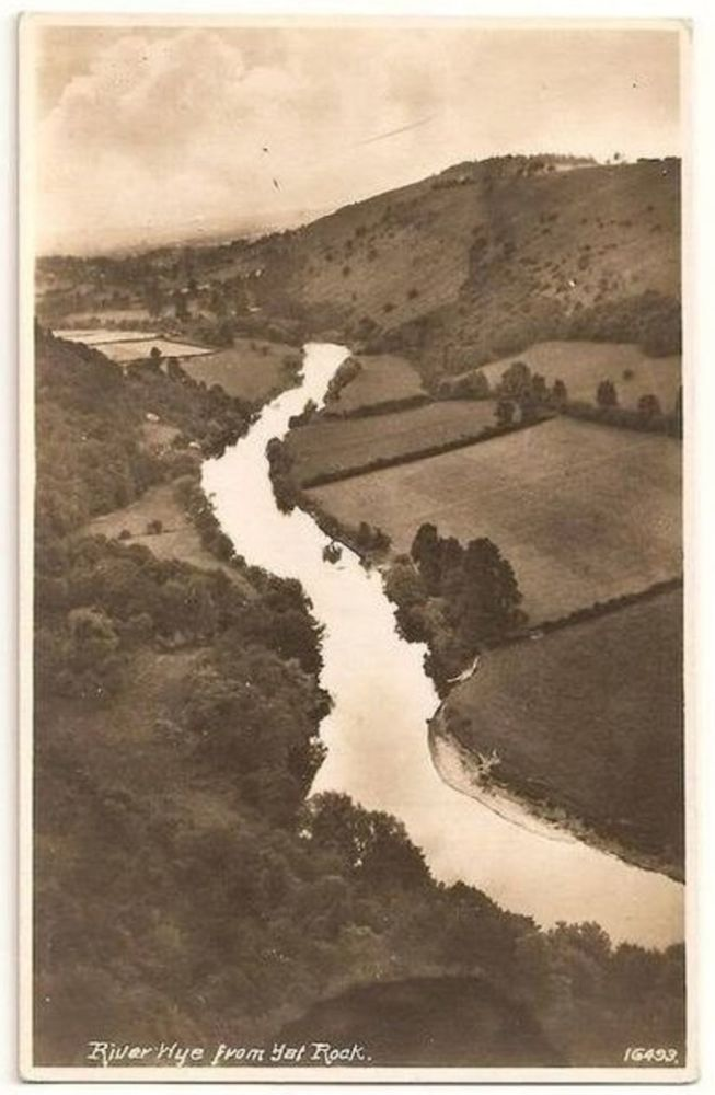 Gloucestershire: River Wye From Yat Rock. 1930s Real Photo Postcard