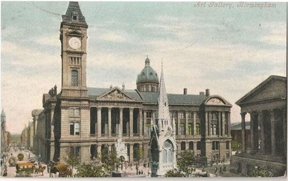 England: Warwickshire. Birmingham Art Gallery. Valentines, Early 1900s Postcard