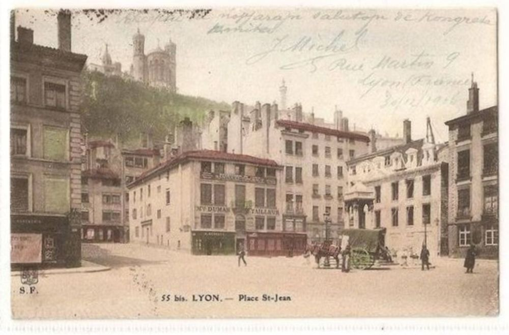 France: Lyon. Place St Jean, Lyon. Early 1900s Postcard