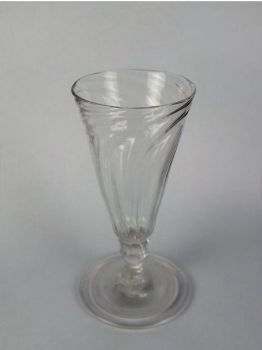Antique Dwarf Ale Glass, Wrythen Bowl, Georgian, Circa 1780s (Lot #2)