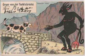 Switzerland: UR Uri. Gruss Von Der Teufelsbrucke. Early 1900s Postcard