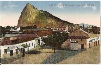 Europe: Gibraltar. The Rock From Linea Bull Ring. Chumbo, Early 1900s Postcard