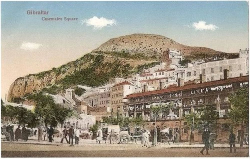 Europe: Gibraltar, Casemates Square. V B Chumbo, Early 1900s Postcard