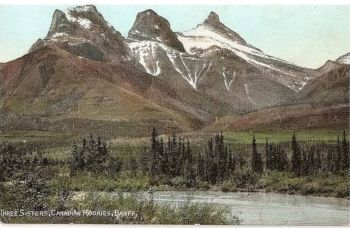 Canada: Three Sisters Canadian Rockies, Banff, Alberta.Early 1900s Postcard