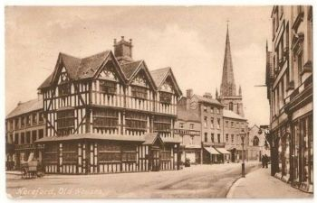 England: Herefordshire. Old Houses Hereford.1920s Friths Postcard