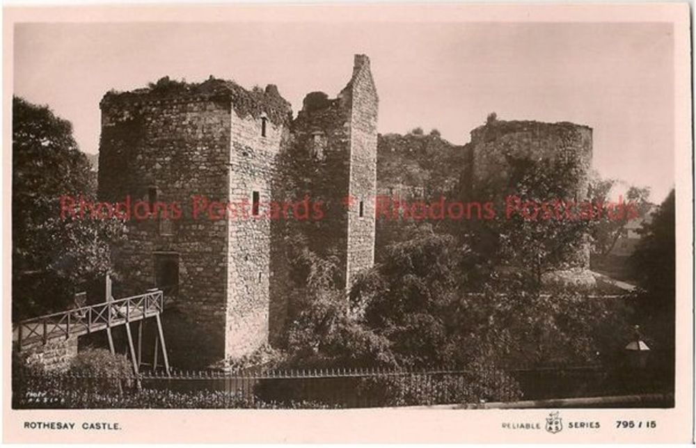 Scotland: Argyll & Bute. Rothesay Castle Early 1900s Real Photo Postcard