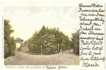 England: Lancashire. Entrance To Lytham Hall And Balham Road, Lytham, Lancs. Early 1900s UDB Postcard