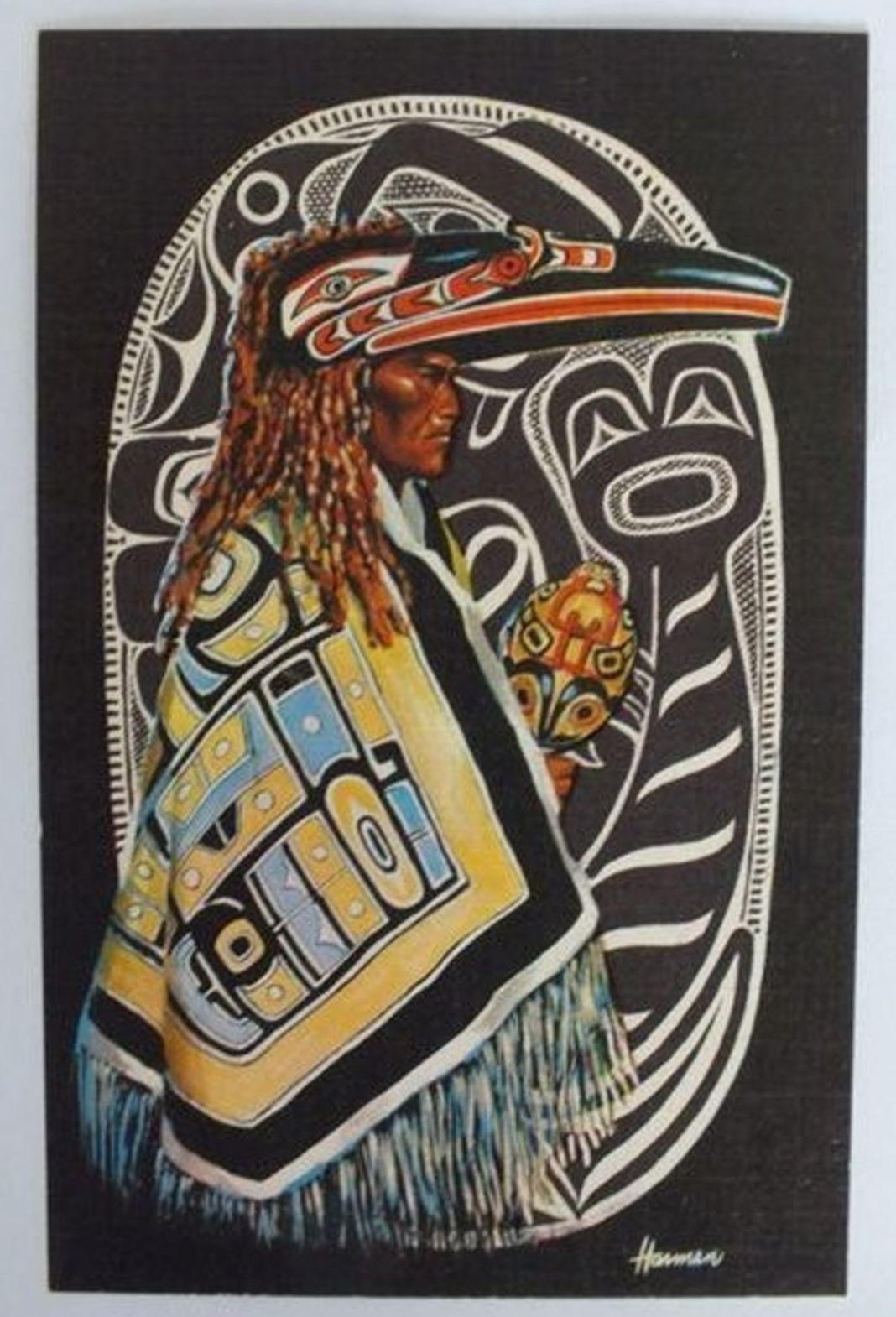 British Columbia Indians, The Shaman, Medicine Man Postcard