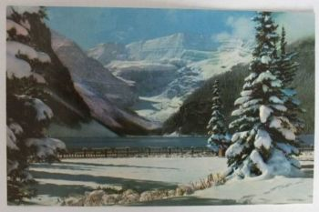 Canada: Alberta, Lake Louise Banff National Park, Snowy Winter Blanket. Circa 1950s Postcard