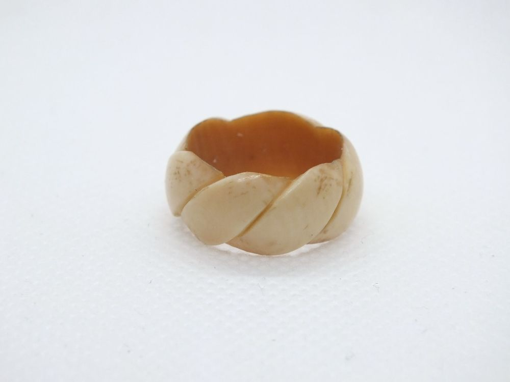 Antique Carved Bone Ring