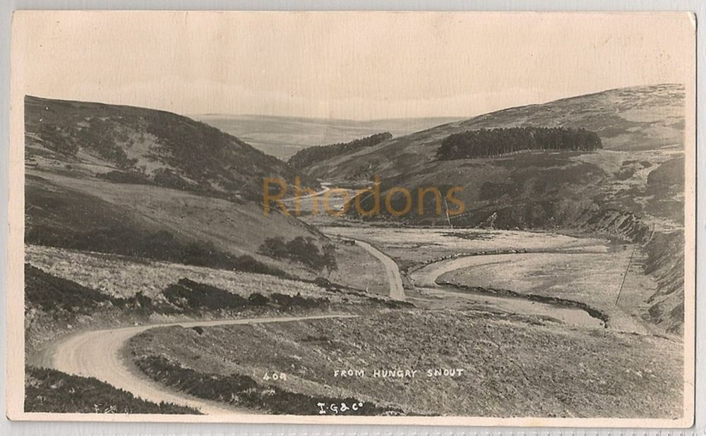 Scotland: Borders. View From Hungry Snout, Lammermuir Hills. Early 1900s RP Postcard