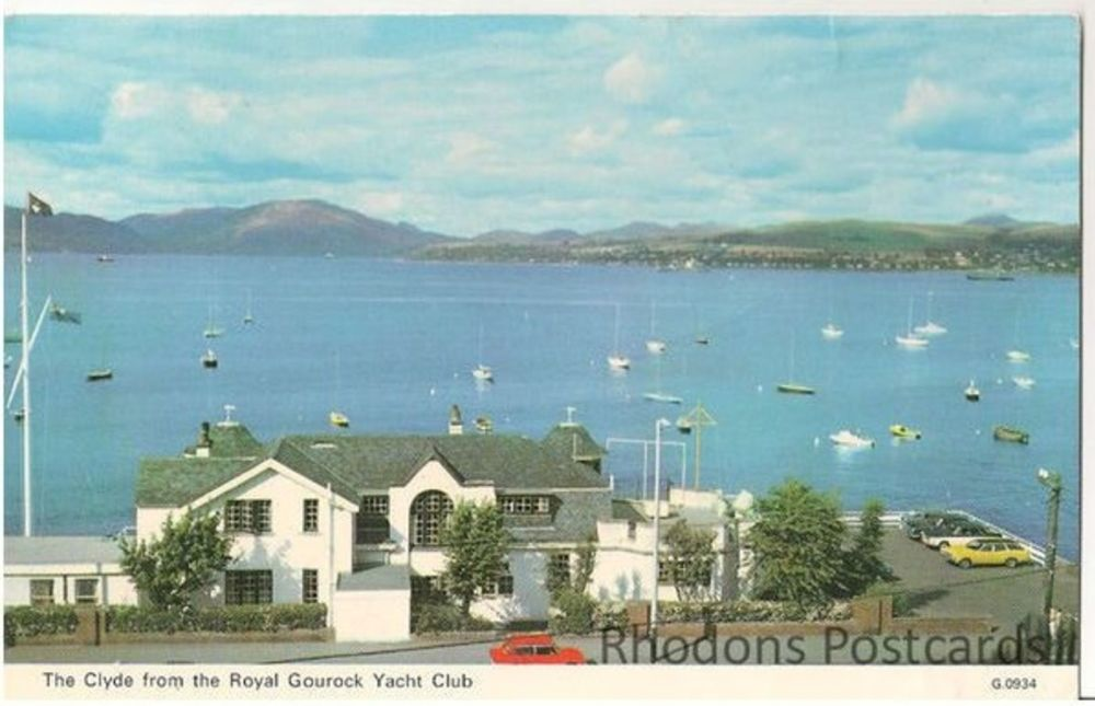 Scotland: Renfrewshire. Clyde From The Royal Gourock Yacht Club, 1970s Postcard