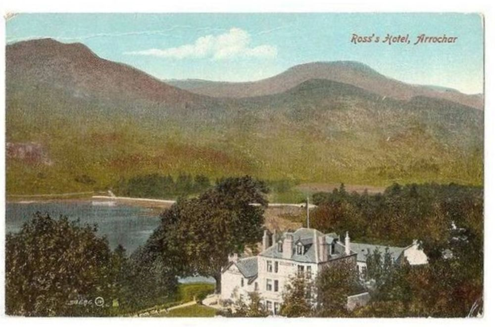 Scotland: Argyllshire. Ross's Hotel, Arrochar. Early 1900s Postcard