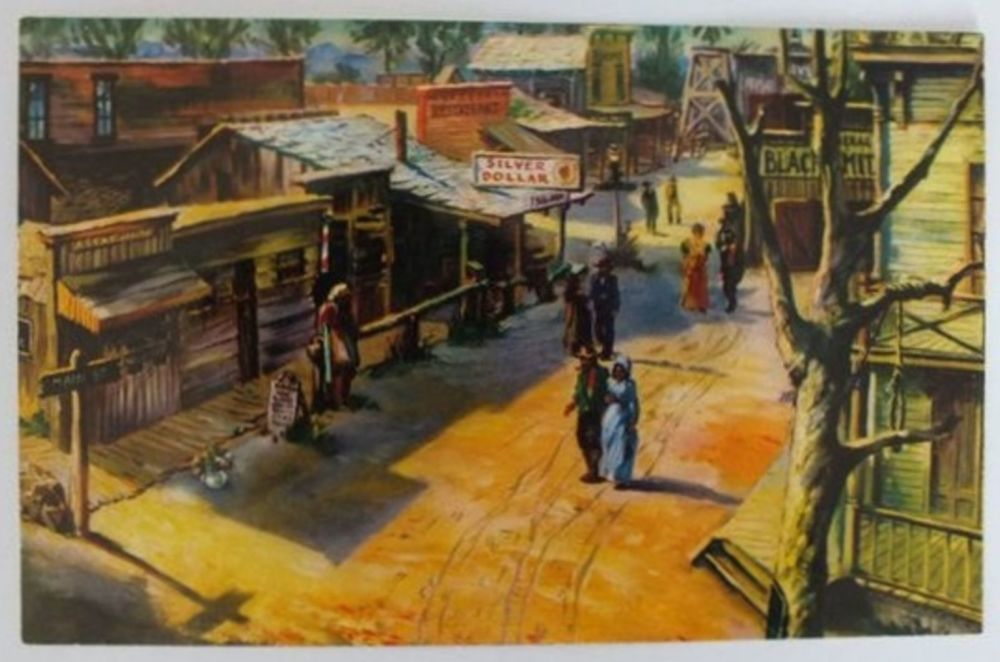 USA: California. Knotts Berry Farm Ghost Town, Buena Park, 1970s Postcard (Lot#1)