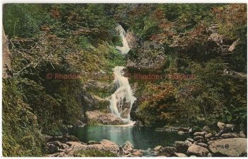Wales: The Fairy Falls Dwygyfylchi. Early 1900s Valentines Postcard