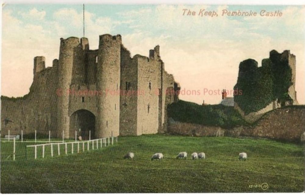 Wales: The Keep, Pembroke Castle, Pembrokeshire. Early 1900s Valentines Postcard
