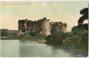 Wales: Carew Castle From Mill, Pembrokeshire. Early 1900s Valentines Postcard