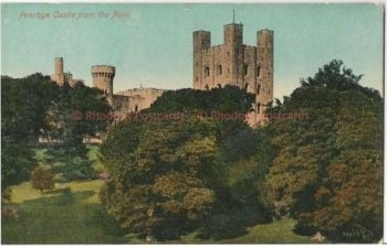 Wales: Penrhyn Castle, View From The Park. Valentines Early 1900s Postcard