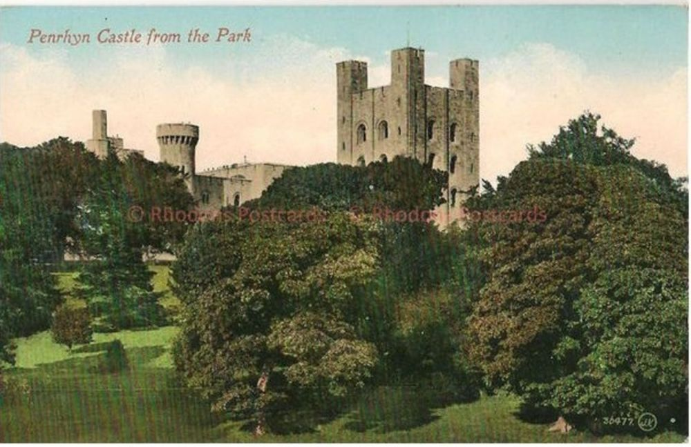 Wales: Penrhyn Castle, View From The Park. Valentines Early 1900s Postcard (#2)