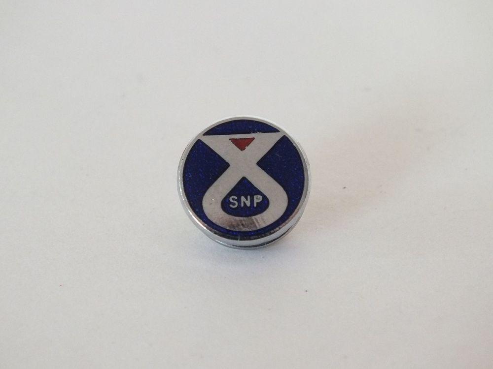 Vintage Enamel SNP Tie Pin Badge