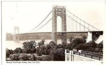 USA: New York. George Washington Bridge, New York City, 1930s RPPC