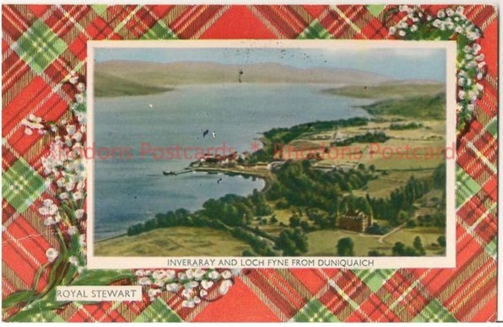Scotland: Argyllshire. Inveraray & Loch Fyne From Duniquaich. 1970s M & L National Series Postcard