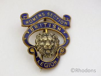 British Legion Award Badge, Womens Section Circa 1930s