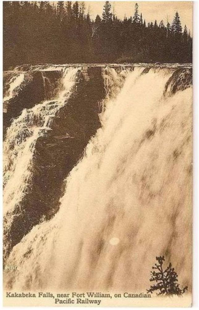Canada: Ontario. Kakabeka Falls Near Fort William. On Canadian Pacific Railway, Early 1900s Postcard