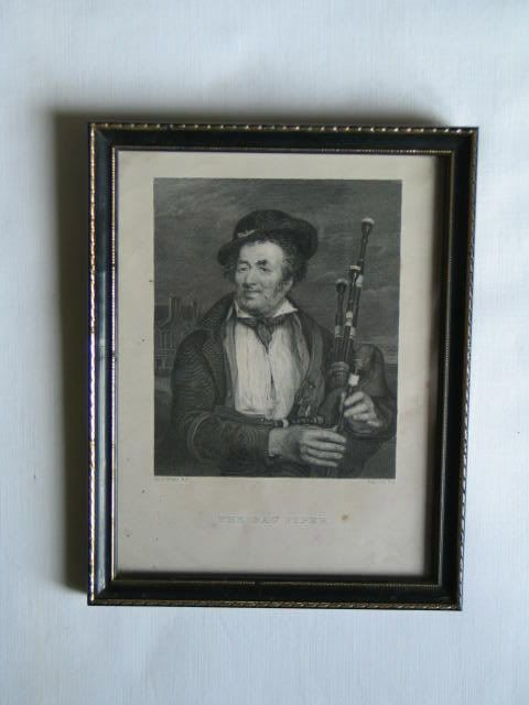 The Bagpiper by Augustus Fox after D Wilkie