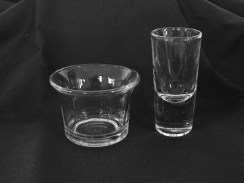 Vintage Toasting Shot Glass And Rinser