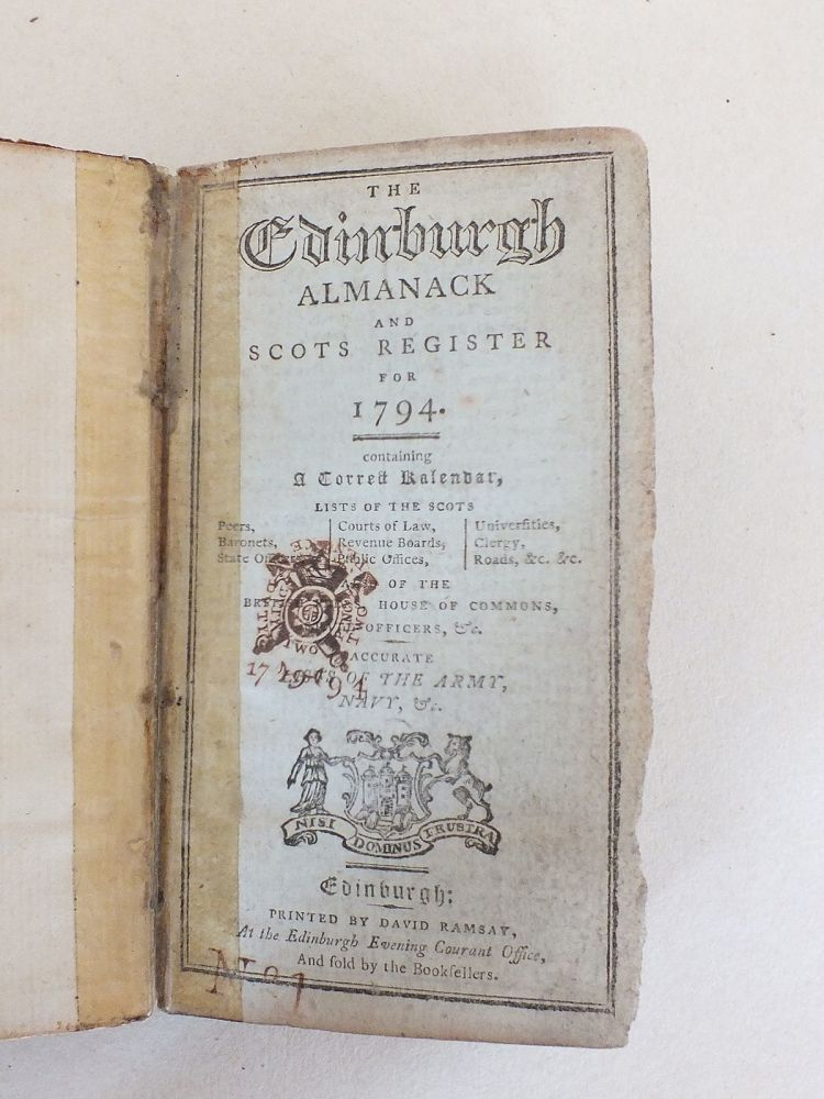 The Edinburgh Almanack And Scots Register For 1794
