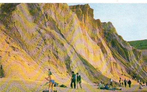 Isle of Wight, The Coloured Cliffs, Alum Bay. Colour Postcard