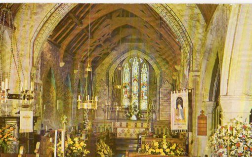 Isle of Wight: St Marys Church Brighstone IOW Colour Postcard