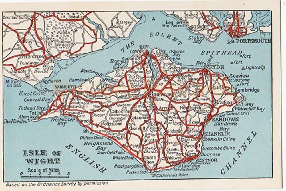 Isle of Wight: Map Postcard