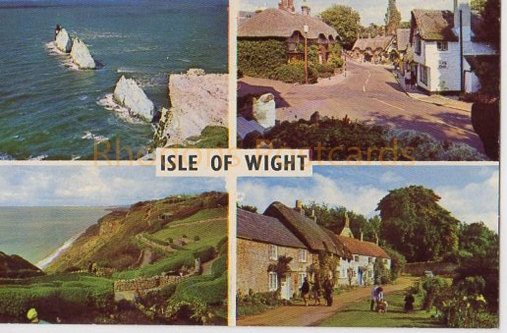 Isle Of Wight Colour Multiview Postcard - The Needles, Shanklin Old Village, Winkle Street, Calbourne, Blackgang Chine (279)