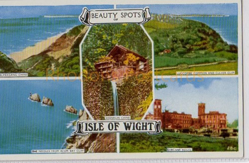 Isle of Wight: Beauty Spots Of The Isle Of Wight 5 View Multiview Colour Postcard