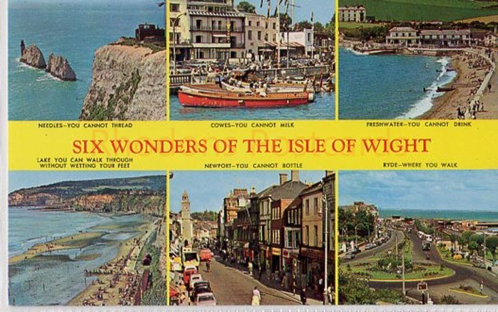 Isle of Wight: Six Wonders Of The Isle Of Wight Postcard, W J Nigh