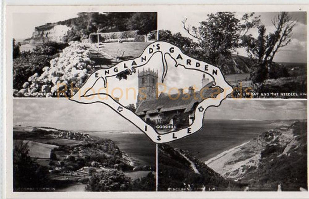 Isle of Wight: Englands Garden Isle - Nigh Real Photo Multiview Postcard