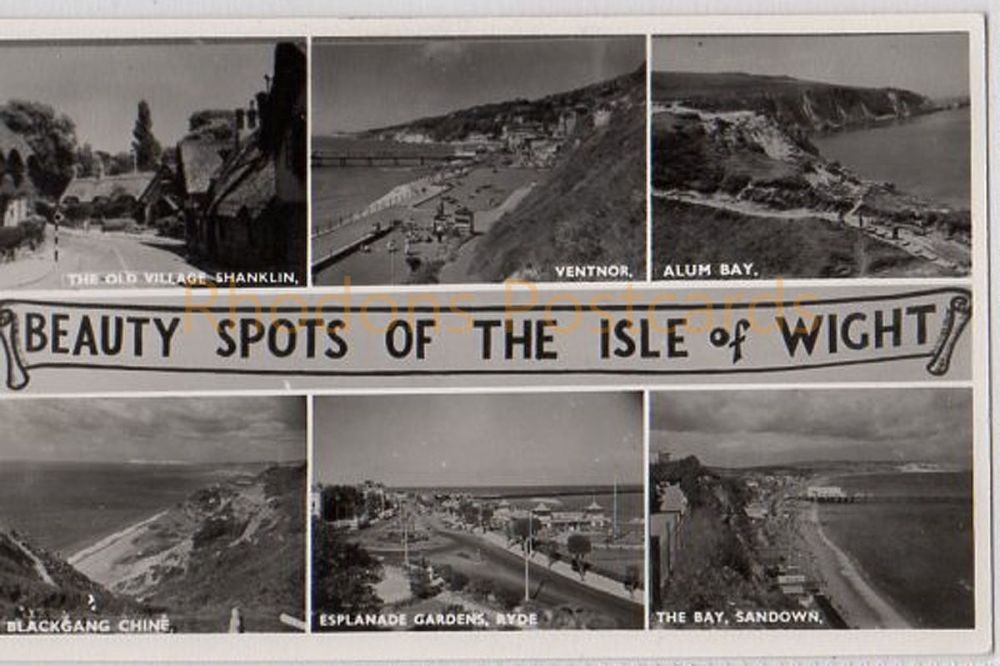 Isle of Wight: Beauty Spots Of The Isle Of Wight - Nigh Real Photo Multiview Postcard