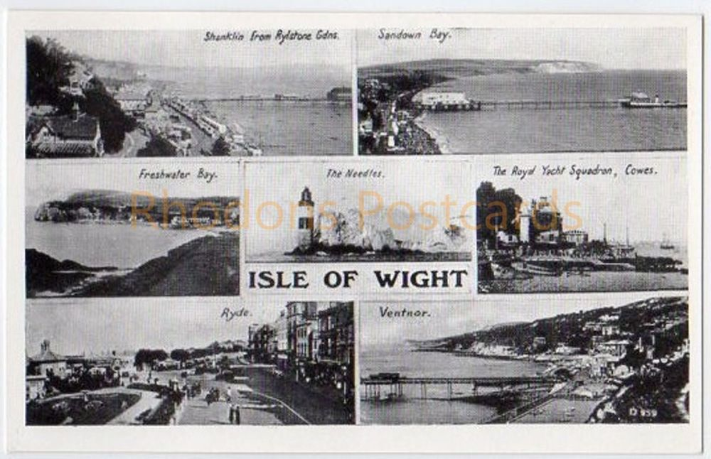 Isle Of Wight Multiview Postcard - G Dean Bay Series D959