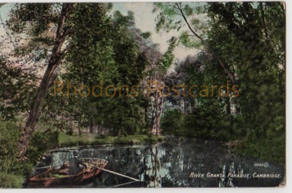 Cambridgeshire. River Granta Paradise, Cambridge. Pre 1914 Postcard. Esperanto Message