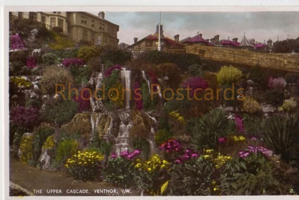 Isle of Wight: The Upper Cascade Ventnor IW, Colour Real Photo Postcard By Nigh of Ventnor