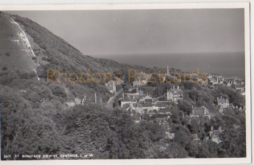 Isle of Wight: St Boniface Downs Ventnor- Nigh Real Photo Postcard