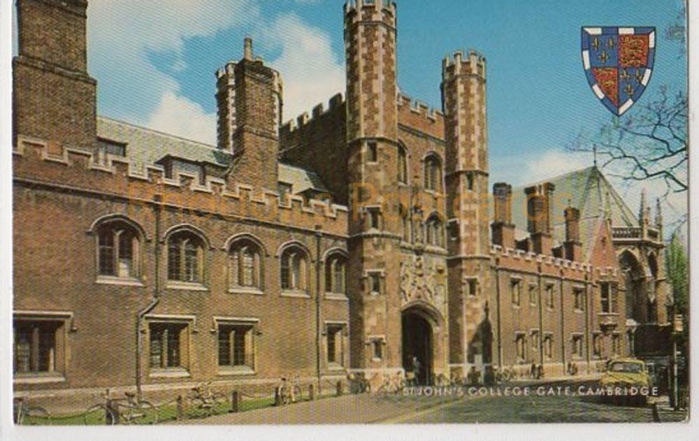 Cambridgeshire. St Johns College Gate, Cambridge Colour Postcard