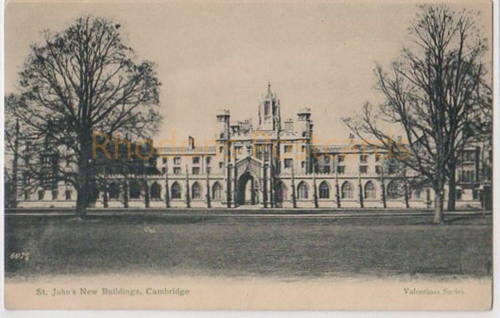 St John's New Buildings, Cambridge. Early 1900s Postcard