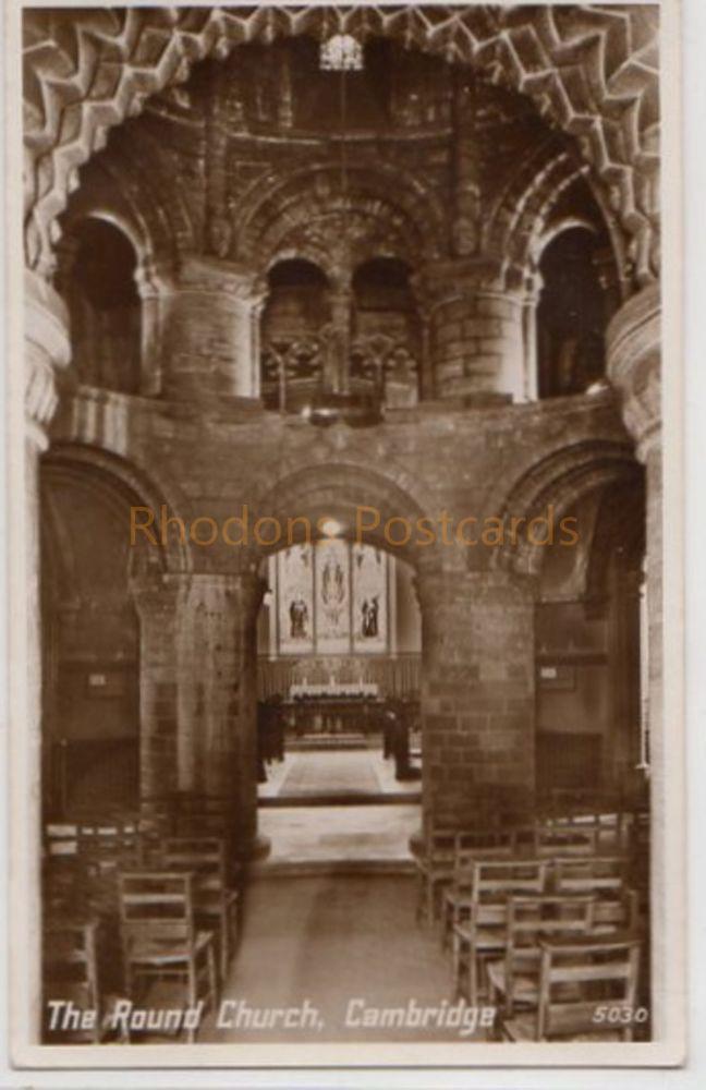 Cambridgeshire. The Round Church, Cambridge. Interior View Postcard
